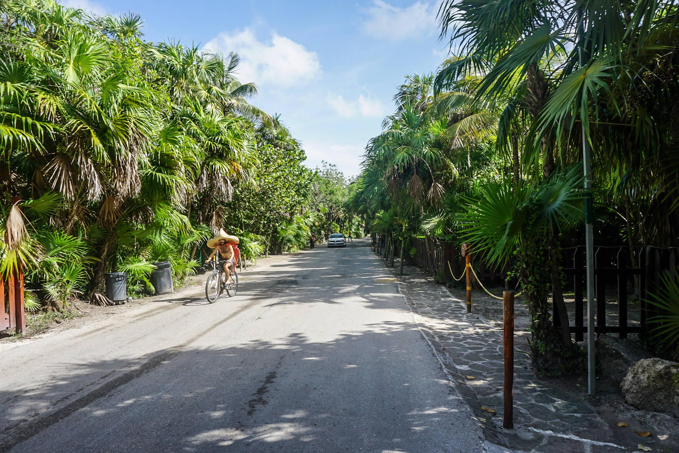 Tulum beach road