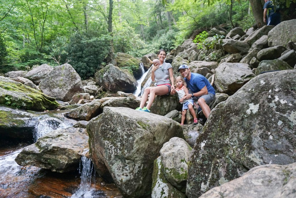 Skinny Dip Falls- Asheville with kids