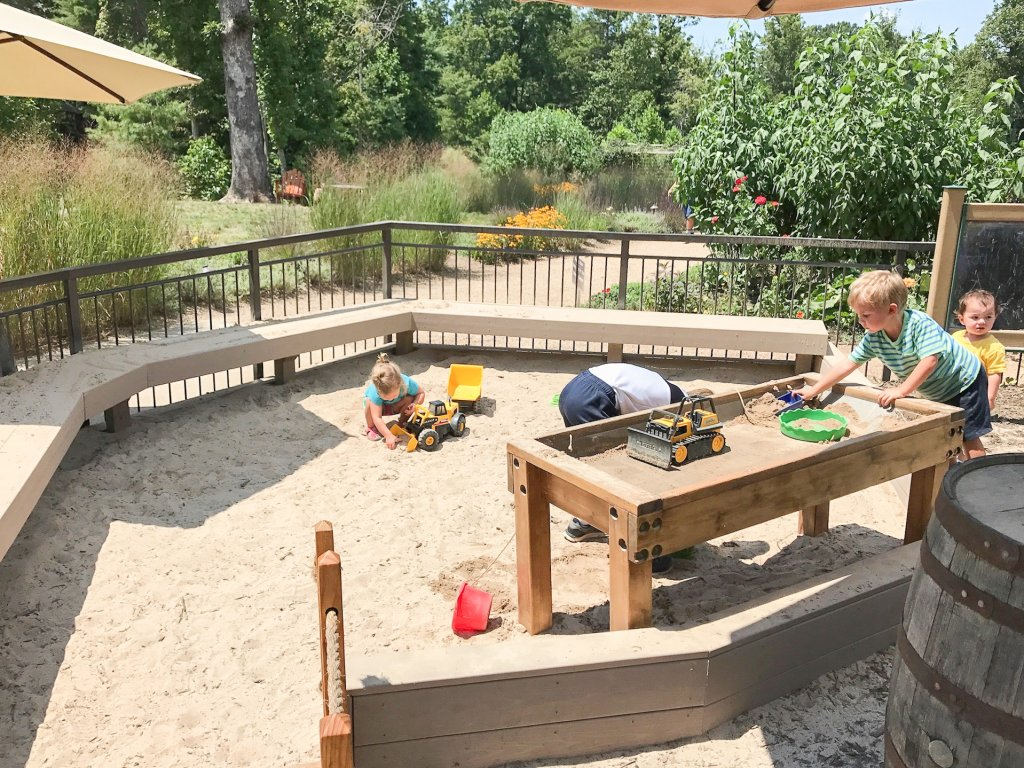 play area at Sierra Nevada - Asheville with kids