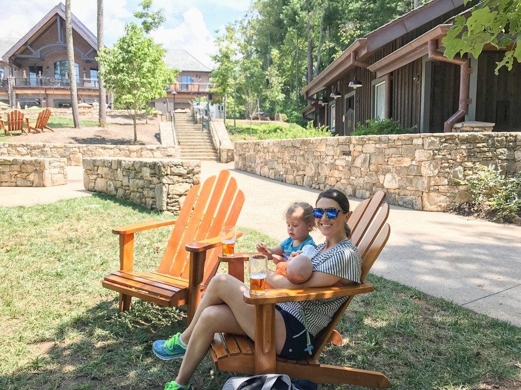 relaxing at Sierra Nevada -Asheville with kids