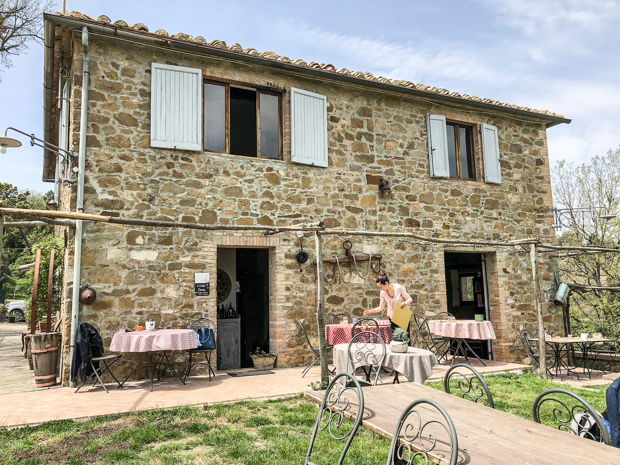 Locanda Demetra in Tuscany in a restored farmhouse near Montalcino