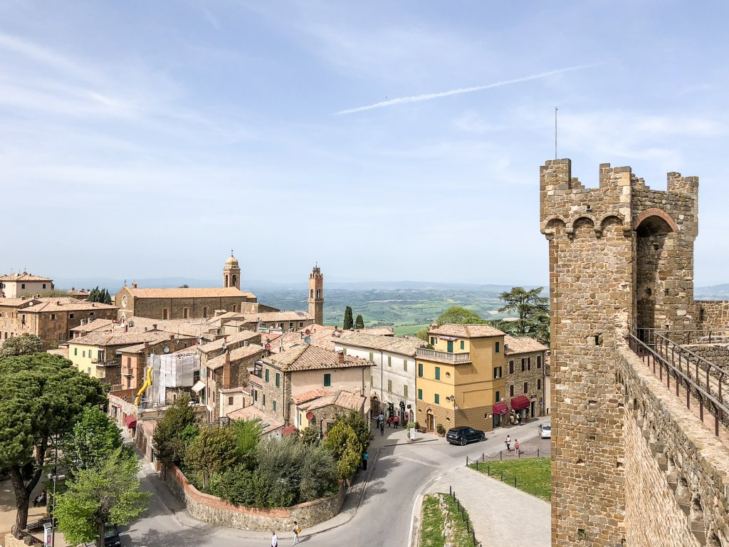 view from the Montalcino fortress