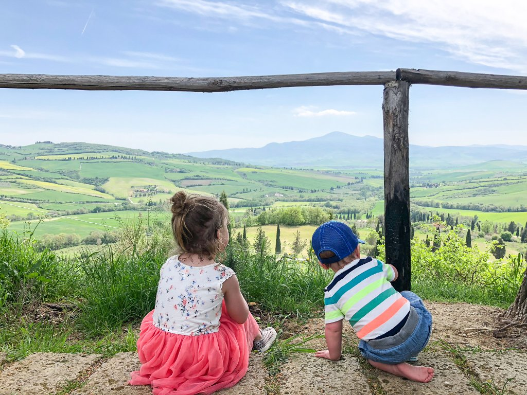 lookout at Podere il Casale -Tuscany with kids