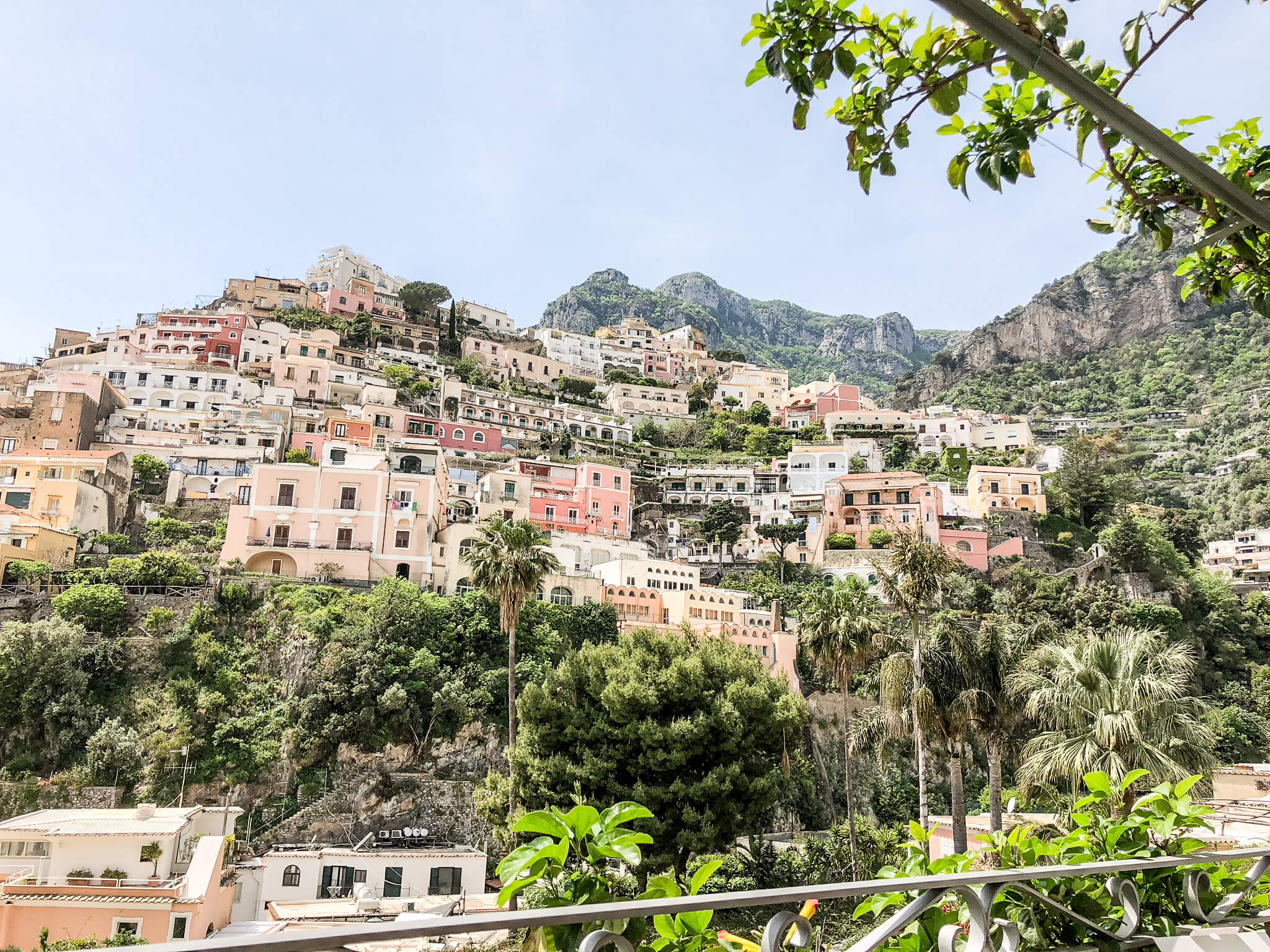 Positano with kids