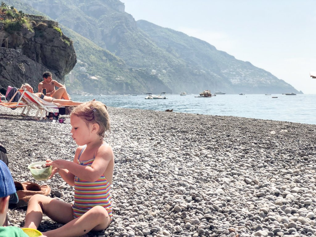 Fornillo Beach- Positano with kids