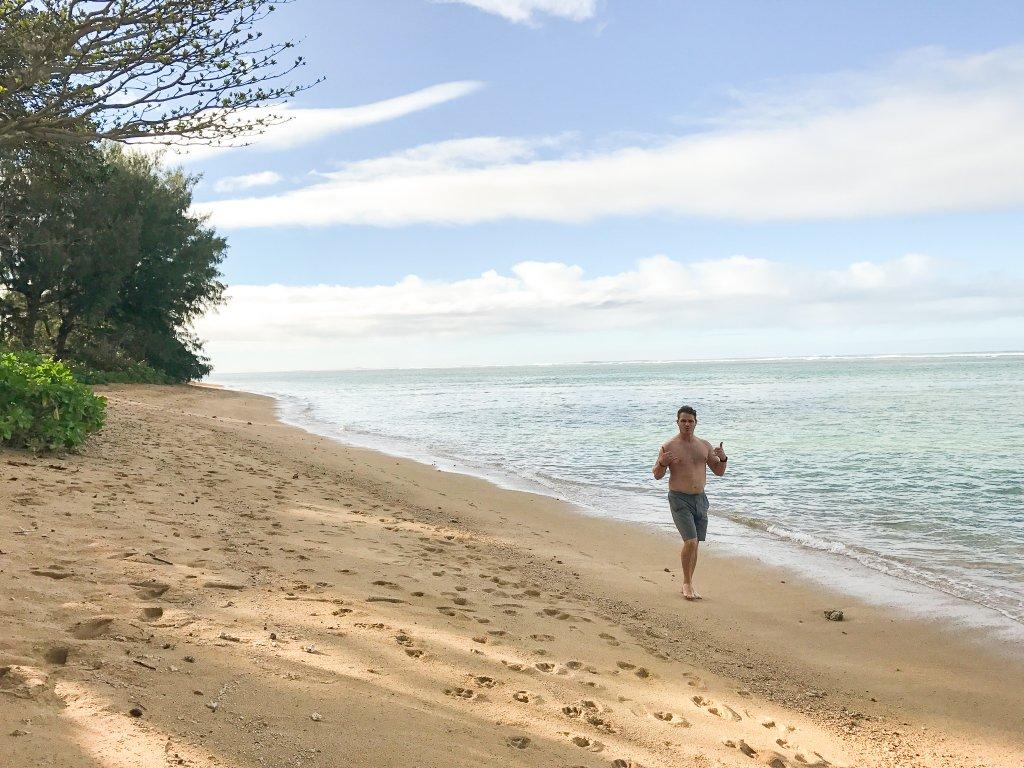 Anini Beach- babymoon in Hawaii