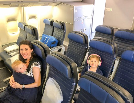 flying with a toddler and a baby
