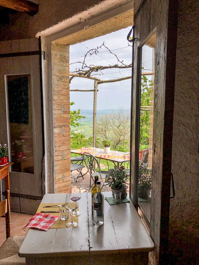 views from inside Locanda Demetra