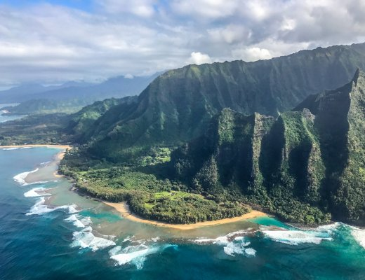 Kauai's Na Pali coast from the air