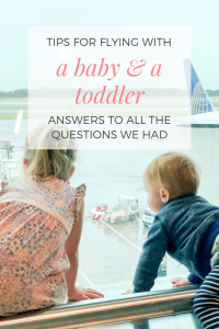 answers to common questions about flying with toddlers and babies