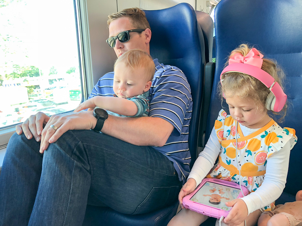 train ride -Italy with kids