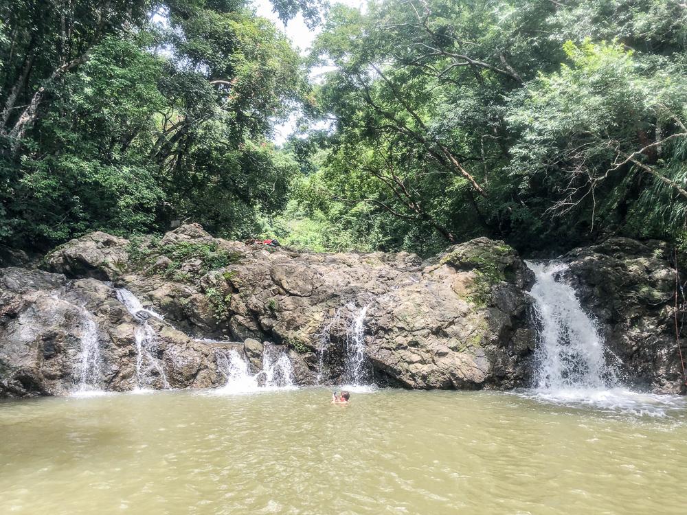 large swimming hole in the jungle at Montezuma Falls