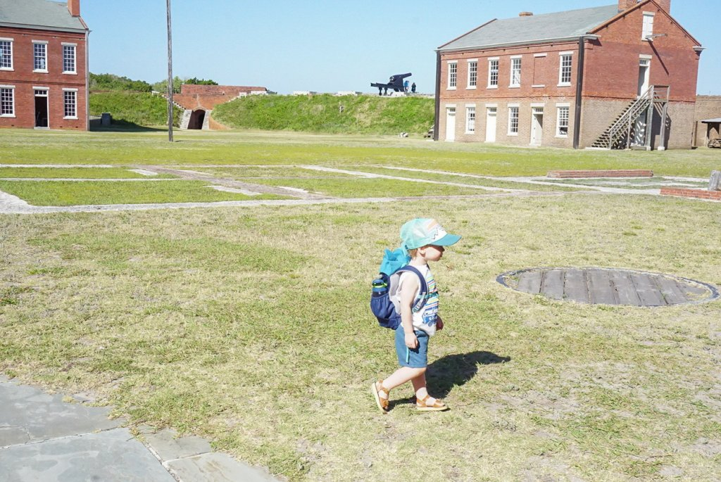 exploring the barracks and buildings at Fort Clinch State Park on Amelia Island