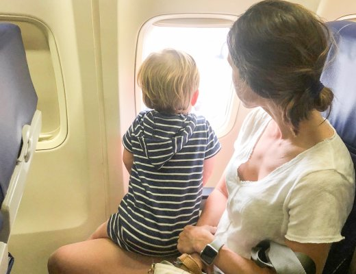 flying with an infant in lap