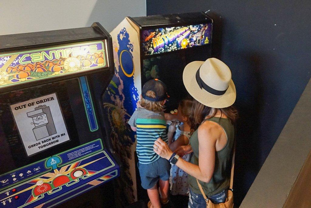 arcade games at the Soda Parlor in Nashville