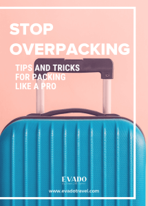 picture of suitcase that says stop overpacking