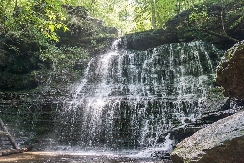 beautiful Machine Falls is a fun way to spend a weekend getaway from Nashville