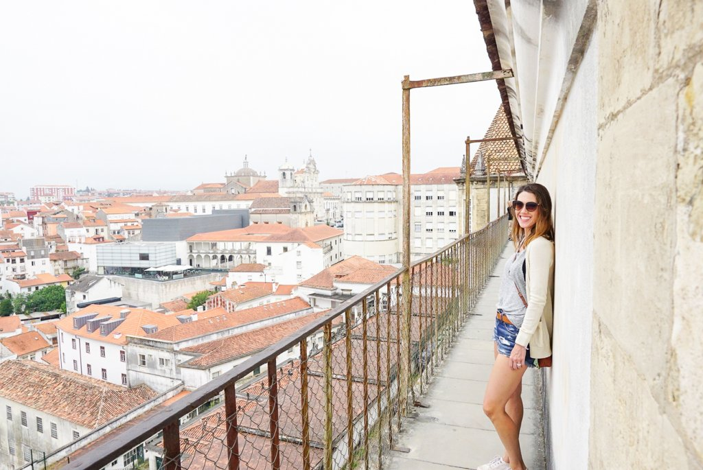 overlooking the clay roof collection in the city of Coimbra, Portugal