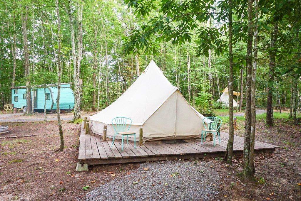 yurts and rv at Sassy Springs Retreat- fun family getaway from Nashville