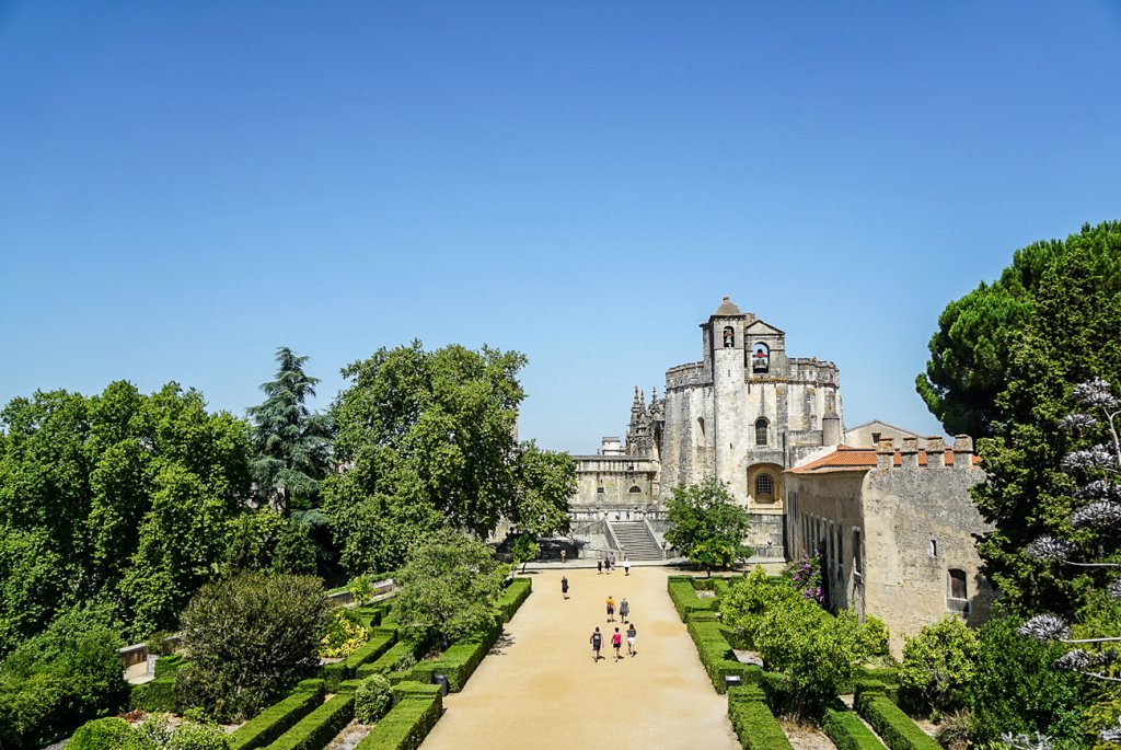 outside of the Convent Christ in Tomar- a stop on our 10 day road trip in Portugal