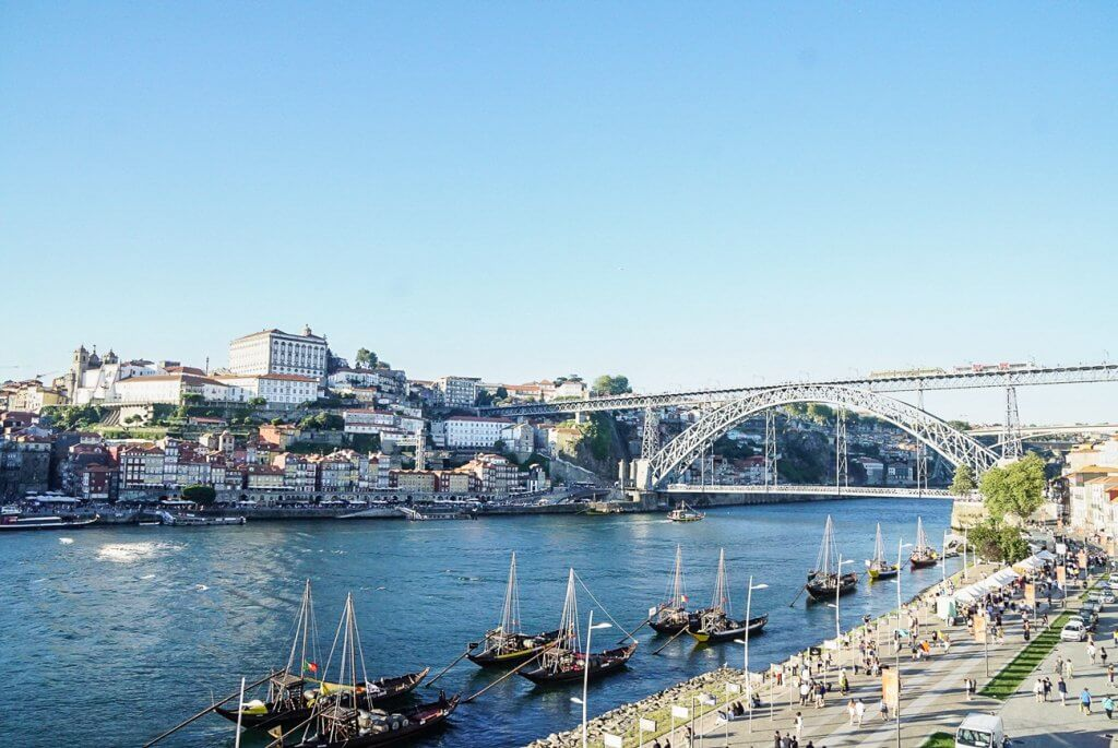 views of Porto from across the river in Gaia