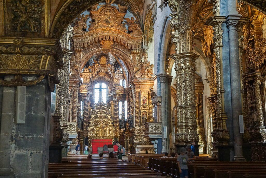 Inside of the Church of Sao Francisco in Porto