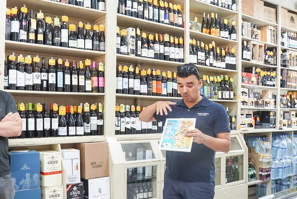 Taste Porto tour guide explaining the unique wine regions in Portugal