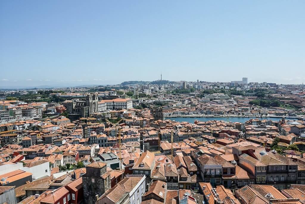 view of Porto from above