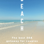 30A beach getaway for small families