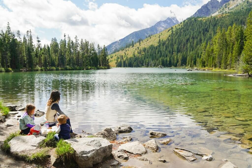 picnic at the beautiful String Lake in Grand Teton National Park