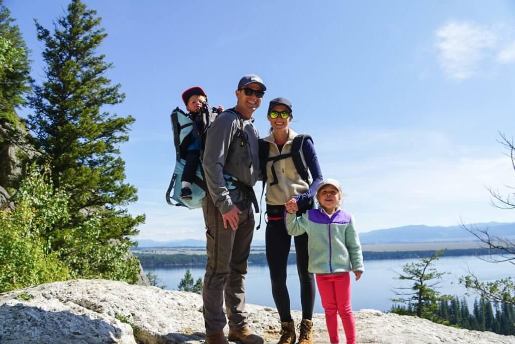 hiking to Inspiration Point at Jenny Lake