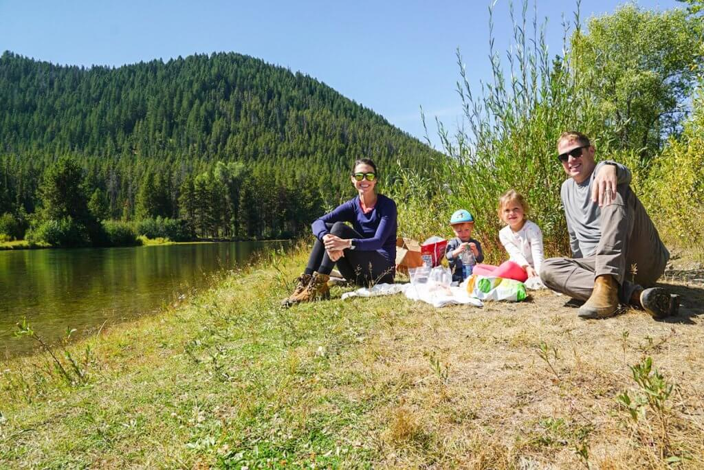 family picnic at Oxbow Bend